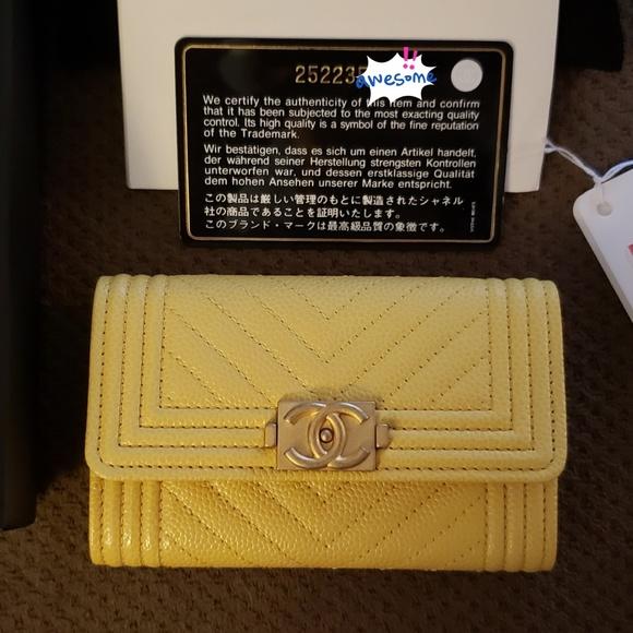 30be8396d63e CHANEL Bags | Authentic 18c Boy Flap Card Holder | Poshmark